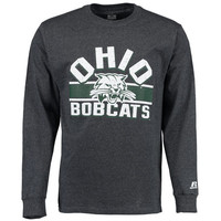 Russell Ohio Bobcats Charcoal Sideline Long Sleeve T-Shirt