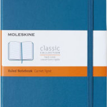 Moleskine Notebook Large Ruled Steel Blue Hard Cover