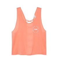 Super Soft Strappy Back Tank - PINK - Victoria's Secret