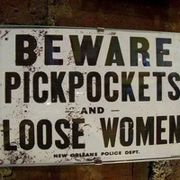 retro vintage beware pickpockets and loose by buckaroosmercantile