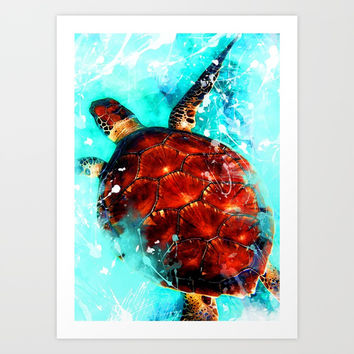 turtle art #turtle #animals Art Print by jbjart