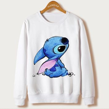 Women`s sweatshirt printed pullover long sleeves size S - XL - Disney and Different Cartoon Characters