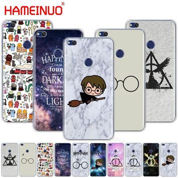 HAMEINUO Harry Potter glasses scar DEATHLY HALLOW cell phone Cover Case for  Huawei Honor 4A 5A 6A 6C 6X 8 9 NOVA PLUS LITE