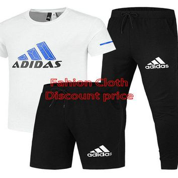 Adidas Response Soft Graphic Tee White T-Shirt Shorts And Trousers Black