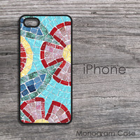 mosaic floral effect iPhone hard case