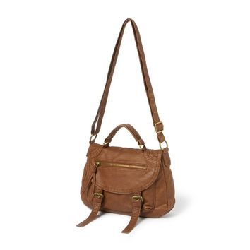 Bayfield Cognac Faux Leather Crossbody Bag  | Icing