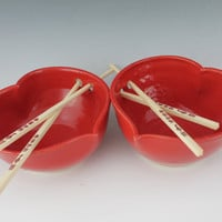 Heart Rice Bowl Set - Valentines Day Gift