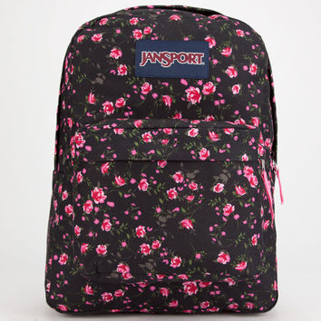 Jansport Superbreak Backpack Lipstick Pink Tea Rose Ditzy One Size For Women 25742332001