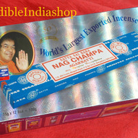 incense sticks Nag Champa Original, BySatya Sai Baba Brand WORLD'S FAMOUS , Hand rolled Ready to ship from India. export quality
