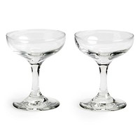 Mason Shaker Coupe Cocktail/Champagne Glasses (Set of 2)
