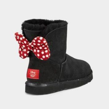 UGG Bow Polka Dots Fashion Half Boots Snow Boots Shoes