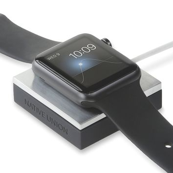 Native Union ANCHOR for Apple Watch - Weighted charging pad for Apple Watch - Minimal home for your watch and cable - Compatible with most Apple Watch models