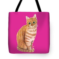 "A Sweet Ginger Tote Bag 18"" x 18"""
