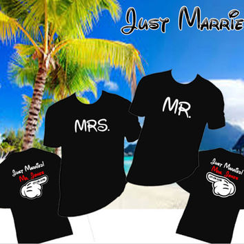 Disney Honeymoon Just Married Shirts, Mr. & Mrs Shirts Personalized, Disney Cruise Shirts, DisneyLand Family Shirts