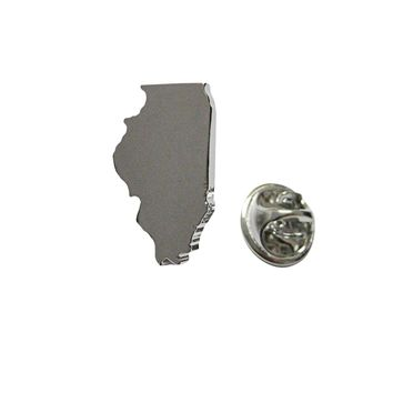 Illinois State Map Shape Lapel Pin