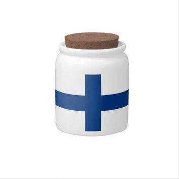 Finland Flag Candy Jar