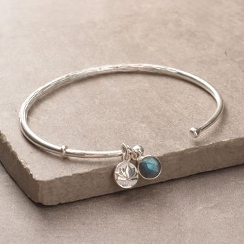 Labradorite Lotus Bangle