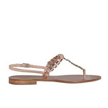 Catena Cilindri Sandal - Rose Gold