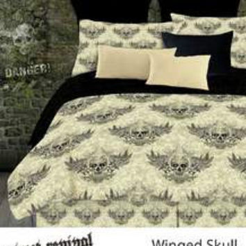 WINGED SKULL COMFORTER SET