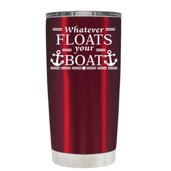 TREK Whatever Floats Your Boat on Translucent Red 20 oz Tumbler Cup