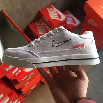 Tagre™ NIKE +SUPREME Fashion leisure Men's and women's shoes Canvas shoes