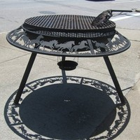 Fire pit grill, wood fire cooking, the best way to BBQ