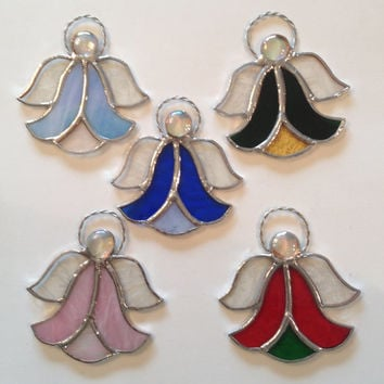 Stained Glass Angel Suncatchers or Ornaments