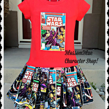 girls Star wars dress starwars dress 6 12 month 18 month 2T 3T 4T 5T 4/5 6/6x 7/8 10/12 and 14/16 Ready to Ship
