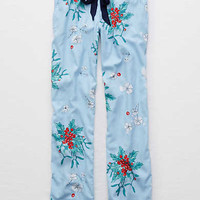 Aerie Real Soft® Flannel Sleep Pant , Ocean Mist
