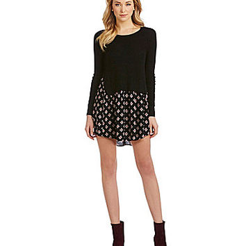 THML 2-Fer Sweater Dress - Black