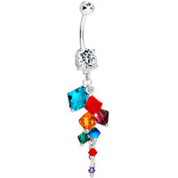 Handcrafted Bali Beauty Crystal Cluster Belly Ring | Body Candy Body Jewelry