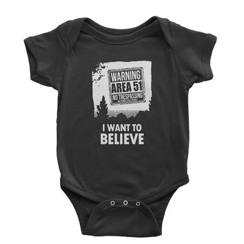 Storm Area 51 - I Want To Believe Infant One-Piece Romper Bodysuit