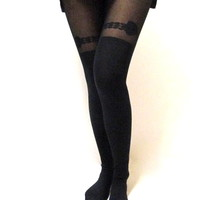 Ribbon Thigh Tights | Shop Civilized