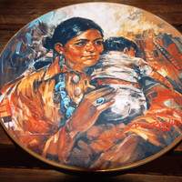 "Mother's Day Gift - Fairmont Artist of the World Don Ruffin ""Child of the Pueblo"" Collector's Plate-Limited Edition 1978 Native American Art"