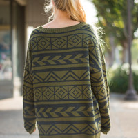 Ready To Go Sweater, Olive