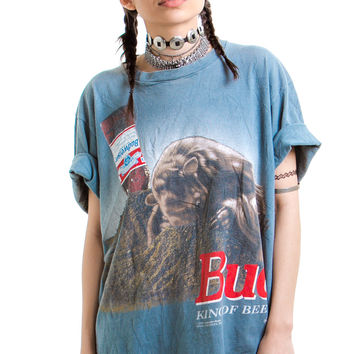 Vintage 1995 This Bud's For You! Worn-In Tee - One Size Fits Many