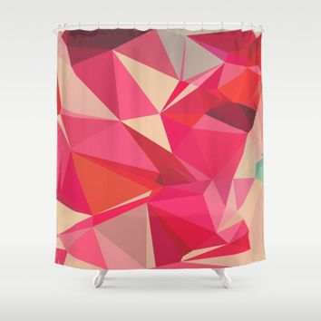 Ruby and Raspberry Shower Curtain by Ducky B