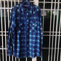 H.R. Market / Hollywood Ranch Market Long Sleeve Shirt Men's Two front Pockets pearl snap down button