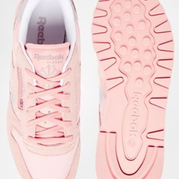 Reebok Classic Leather Patina Pink Retro Trainers