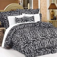 5Pcs Twin XL Extra Long Zebra Bedding Comforter Set