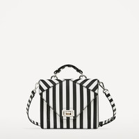 TWO-TONE STRIPED CROSSBODY BAG