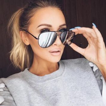 Sunglasses women mirror Aviator shades luxury brand Design