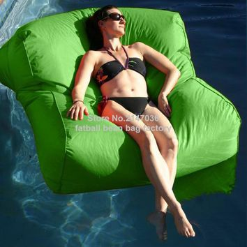 Green water float bean bag furniture,Double seat big boy Gaming / Theater / Cinema Room Outdoor Bean bag sofa chairs