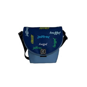Personalized Messenger Bag, Any Name Messenger Bag