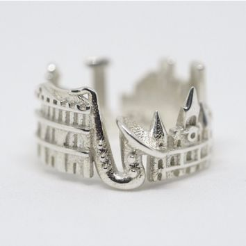 New Orleans Cityscape Statement Ring