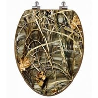 Max-4 Camo Oak Toilet Seat Cover | Realtree Bed and Bath