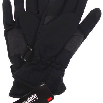 Route 66 Black Gloves 3M Thinsulate Winter Sport Mens One Size NWT