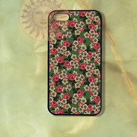 Flowers in polka dot background -iPhone 5, 5s, 5c, 4s, 4, Ipod touch 5, Samsung GS3, GS4 case-Silicone Rubber / Hard Plastic Case, cover