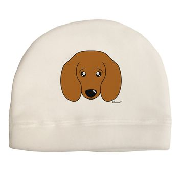 Cute Doxie Dachshund Dog Child Fleece Beanie Cap Hat by TooLoud