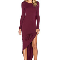 Sam Wrap Dress in Merlot
